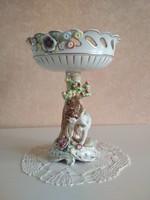 Türingiai angyalos porcelán kínáló