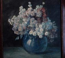 Nemcsak szép, eredeti is! Pécsi Pilch Dezső (Pécs - 1949) Virágcsendélet