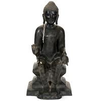 Bronz Buddha szobor emelvényen – 49cm