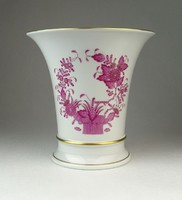 0Q455 Lila indiai kosaras Herendi porcelán váza