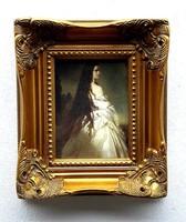 SISI (Erzsébet királyné és császárné) PORCELÁN KÉP RITKASÁG,ANTIK BAROKK ARANY KERET, LUXUS AJÁNDÉK