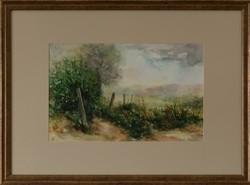 Laluk György akvarellje, Visszavásárlási garanciával, Eredetiség igazolással,