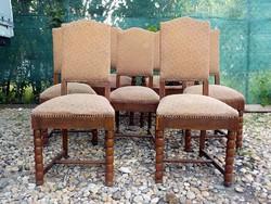 Régi koloniál ülőgarnitúra 5 szék és 2 trónszék