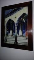 """""""Wladimir Petroff : Istanbul """" -  antik olajfestmény/vászon -   üvegezett keretben"""