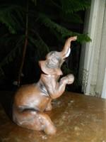 Szerencse hozó elefánt - szobor - öntvény