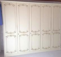 Warrings 5 ajtós törtfehér gardrobszekrény 270x225x60cm