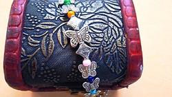 Kiárusítás! Tibeti ezüst színes Jade gyöngyös karkötő