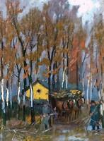 Berkes Antal (1874 - 1938): Gallyszedők 1910.