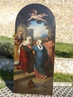 Than Mór [1864 ] Szűz Mária és Erzsébet találkozása.