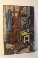 XX.századi magyar festő: Enteriőr festmény