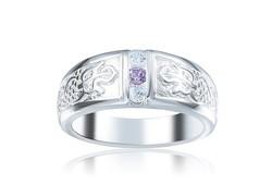 Lila tanzanit köves gyűrű  7-es   ÚJ!