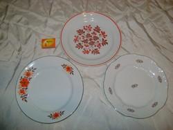 Zsolnay lapos tányér - három darab - hiánypótlásra