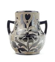 0Q002 Mezőtúri Steinbach Sándor kerámia váza 12 cm
