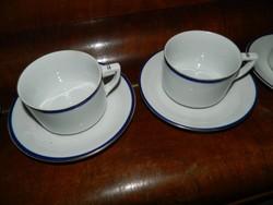 Drasche antik ritka,klasszikus kék - arany szegélyes teás csésze készlet