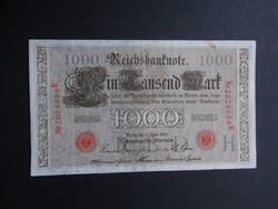 Németország - 1000 márka 1910 (piros pecsét)