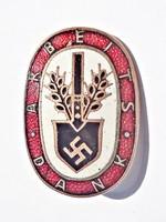 Arbeits Dank tűzzománcos német kitűző