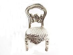 Ezüstözött kis szék(D25-Bi27547)