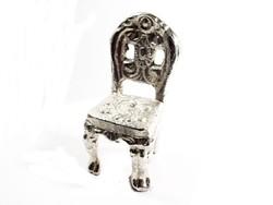 Ezüstözött kis szék(D25-Bi27550)