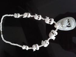 Indiai elefántcsont nyaklánc