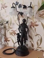 80 cm gyönyörű Szobros Lámpa!!