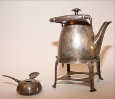 Tea melegítő kiöntő ezüstözött Art deco  stílus