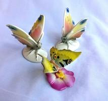 Porcelán pillangók egyben,jelzettek