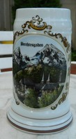 Berchtesgaben városképes korsó - kupa - márkajelzéssel