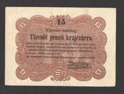 """Tizenöt pengő krajczárra 1849. """"q.re."""" betűjeles!!   NAGYON SZÉP!!"""