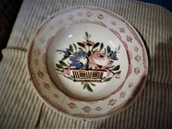 Antik hollóházi porcelán falitányér jelzett
