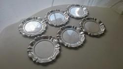 Ezüst 6 darabos alátét szett (agárfejes 800 as)