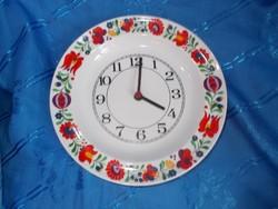 Hollóházi porcelán tányér  falióra