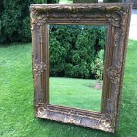 Eladó a képen látható monumentális méretű régi blondel keretes tükör 130x100cm