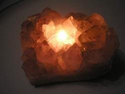 U12 Ametiszt ásvány geoda -mécsestartó lámpatalpnak Dekoráció 1531 gr