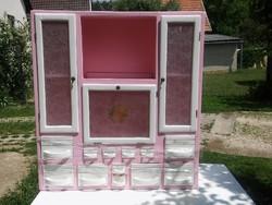 Gránit fiókos régi fűszeres szekrény - ritka régi faliszekrény