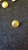 "Bronz gomb 1,6 cm ""GOLF CLUB 1991 "" felirattal"