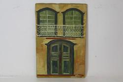 Szignózott olajfestmény M.Carmen 41x27 cm