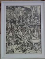 Albrecht Dürer fametszet: Szent János megkínzatása