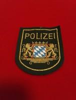 Német rendőrségi felvarró! Polizei
