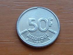 BELGIUM BELGIQUE 50 FRANK 1987