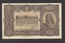 100 korona 1923. Magyar Pénzjegynyomda Rt. fb.!!  HAJTATLAN!!  aUNC!!