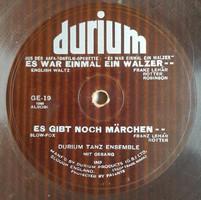 """Durium hajlékony 10"""" 78rpm  fordulatú egyoldalú 2 filmzene Lehár Ferenc zenéiből 1932 évből No:GE-19"""