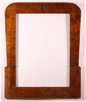 Art - decó tükörkeret politúrozott diógyökér mintázattal régi restaurált