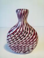 Művészi üveg mini váza vagy parfümös üveg vagy cseh tubák tartó dohány tartó