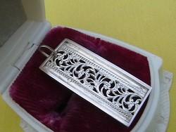 Ezüst antik medalion