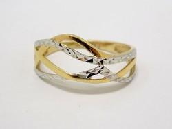 Sárga-fehér arany gyűrű (ZAL-Au62674)