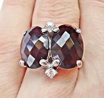 Négy csiszolt köves 925-ös ezüst gyűrű