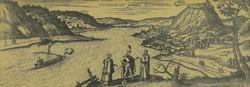 0R218 Visegrád látképe keretezett fakszimile