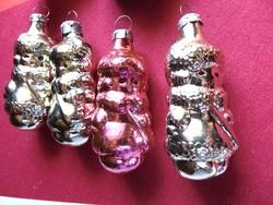 Régi orosz üveg karácsonyfadíszek