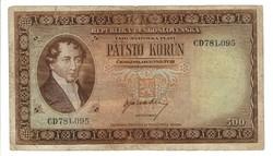 500 korun 1945 Csehszlovákia