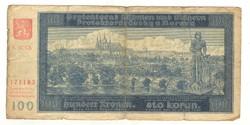100 korun 1940 Cseh Morva Protektorátus I.